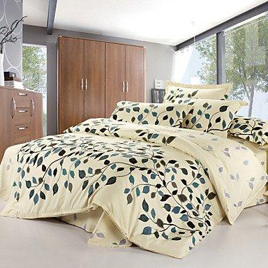 AIURLIFE ropa de cama 4 piezas juego de cama de algodón 100% , queen