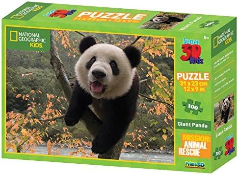 National Geographic Animal Rescue Panda Géant Super Super Super Puzzle 3D (100, Multicolore) | Exquise (in) De Fabrication  a0b6dd