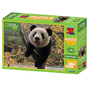 National Geographic Animal Rescue Panda Gigante Super 3D Puzzle (100-Piece