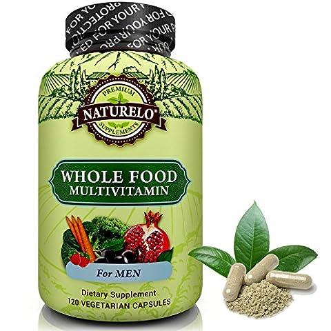 NATURELO Whole Food Multivitamin for Men - #1 Ranked -