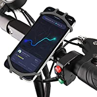 bqlove Soporte Movil Bicicleta, Soporte De Montaje para TeléFono De Bicicleta De Silicona De RotacióN De 360 ° Adecuado para Cualquier TeléFono MóVil De 4 A 6,3 Pulgadas