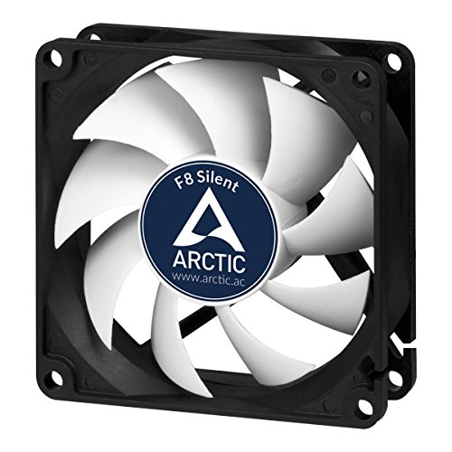 Arctic F8 Silent - Besonders leiser 80 mm Gehäuselüfter | Case Fan mit Standardgehäuse | nahezu lautlos | Push- Oder Pull Konfiguration Möglich (Belüftung Lüfter Motor)