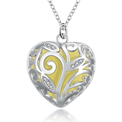Yellow Chimes Glow-In-The-Dark Heart of Winter Frozen Forest Natural Concept 925 Silver Plating (Hallmarked) with Crystal Studded Locket Pendant for Women 51QL1gloR1L