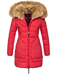 Marikoo Designer Damen Winter Jacke Parka Mantel Teddyfell warm gefüttert  B616 2c33820176