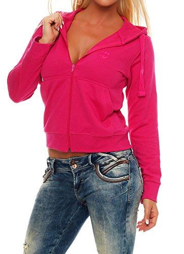 Gennadi Hoppe Sweatshirt Jacke Damen Trainingsjacke (XS, Pink)