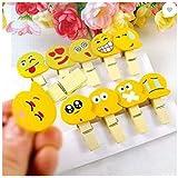 Wooden Paper Clips Emoji