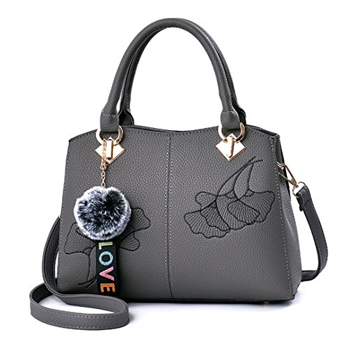 Taschen Großhandel Stickerei Handtasche Schulter koreanische Version der einfachen klassischen Handtaschen gray 29x22x12cm