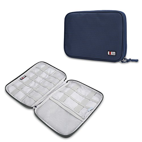 Elektronische Tasche, Universaltasche für elektronische Kleingeräte Elektronische Zubehörtasche für Universal Kabel USB Wasserdicht Nylon, Blau -