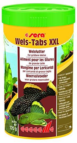 Sera Wels-Tabs XXL 250 ml Das Futter für größere Welse: als Boden- Oder Hafttablette nutzbar (Iu Tabletten 90)