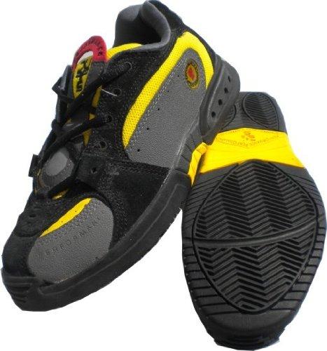 Duffs Skateboard Schuhe Swiss Tech XT K9 Black/Yellow, Schuhgrösse:38.5 (Herren Dekline Schuhe)
