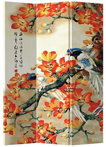Fine Asianliving - Pantalla Plegable de 3 Paneles (180 x 140 cm), diseño Oriental asiático, Estilo japonés, Estilo japonés