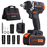 Impact Wrench, GOXAWEE 20V Cordless Impact Driver