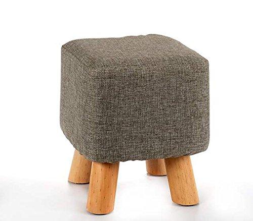 Takestop Taburete bajo cuadrado pies de madera 26x 26x 28cm puf reposapiés Reposa pies muebles Diseño Salón Salón Dormitorio cama
