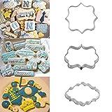 Bazaar 3Rahmen de Platte Coupe Fondant Cookie gesetzt Rechteck quadratisch, oval