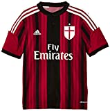Brand new, official AC Milan Kids Home Shirt for the 2014-15 Serie A season. This authentic football kit is available in junior sizes small boys, medium boys, large boys, XL boys and is manufactured by Adidas.Customise your soccer jersey w...