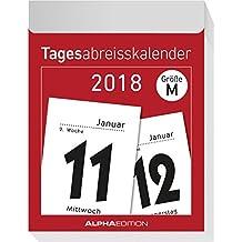 Tagesabreißkalender XL 2018 - Wandkalender / Bürokalender (8 x 11)