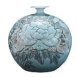 Vase en céramique Bouteille Grenade en Porcelaine Peinte À La Main en Or Chinois Peinte À La Main Décorative D'ameublement pour La Maison Pot Fleurs | Conteneur...