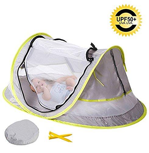 Tente pliable pour bébé, deux piquets, pour la protection contre le soleil et les moustiques