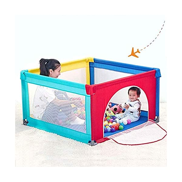 TOY Child Playpen, Kids Activity Center, Kids Safety Play Center Yard, Home Indoor Fence, Anti-Fall Play Pen, Fabric Indoor Child Playards, Anti-Skid,120 * 120cm TOY ◆Liberate Mom's Hands: Effectively help your child explore the world of perception, keep your child away from harm, and mothers can free their hands to do their own things.(Note: The package has only 1x children's fence.) ◆Large Space Design: 120x120cm, 120x150cm, 150x150cm, 150x190cm, 180x190cm, 200x250cm (6 sizes, available for you to choose from). Please refer to the dimension drawing for details. It provides a safe space for your child to play so that your little one could move around freely. ◆Spacious Area:The height of the fence is long enough for the child to stand and walk while the area inside the yard is plentiful for them to explore around. Make it fun for children to play and learn with enough room for all baby's essentials 3