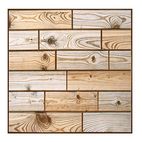 3D Ziegelstein Tapete,Jaminy 3D Wallpaper Wandaufkleber Wand Dekor Geprägte Brick Simulation Fliesen für Schlafzimmer Wohnzimmer Moderne TV Schlafzimmer Wohnzimmer Dekor,Selbstklebend Brick Muster Tapete 30 x 30 cm (B)