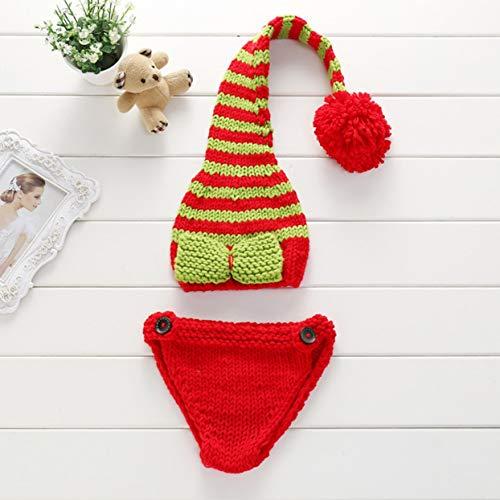LoveOlvidoD Neugeborene Fotografie Requisiten Handgefertigte Wolle strickende Kleidung Cute Baby Kostüme Outfit