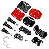 OcioDual Pegatina Soporte Casco Bici Moto Camara Accesorios para GoPro Hero 7 6 5 4 3 SJCAM Xiaomi Yi Accessories Set Kit