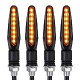 Proster 4Pz Frecce LED Moto Universali a 8 LED Indicatori di Direzione da Moto Alta Luminosità con Maniglia Rigida Durevole Indicatori per Moto Scooter Cruiser - Luce Ambra
