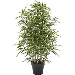 Bambu – Árbol artificial para decoración exterior con troncos reales – Resistente a los rayos U.V. Certificado TUV – Altura 100 cm