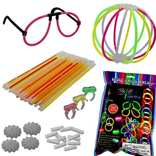 Knicklichter Party pack XL - Komplett-party set mit alle unsere Favoriten - Bis zu acht Stunden und mehr Party - Leuchtspaß - Ideal für Partys sowohl für Kinder als auch für kindliche Seelen