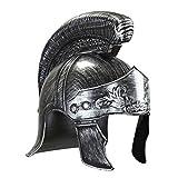 Amakando Römerhelm Kaiser Cäsar Königshelm Silber Gladiatorenhelm Römischer Helm Kostüm Accessoires Herren Karneval Ritterhelm Antike Kopfbedeckung Gladiator