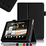 Fintie Folio Case Cover for Acer Iconia A1-810 7.9 -Inch Tablet Slim Fit With Stylus Holder - Black