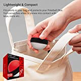 ORZLY® Carry Case for Nintendo Switch Poke Ball Plus Controller (Protective Hard Zip Pouch with Keychain Carabiner Belt Clip, and Inner Pocket for Neck Strap) 1x Travel Case in Red/White Poke Style