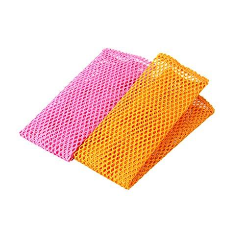 Waschen Net (BESTONZON 4 stücke Spültuch Geschirr Waschen Net Tücher Küchentücher Reinigungstücher Waschlappen Küche Scheuern Schwamm)