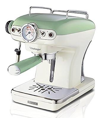 Ariete UK 1389 Retro Espresso Coffee Maker, 900 W, Cappucino Coffee Machine Vintage Series from Ariete UK De'Longhi Appliances