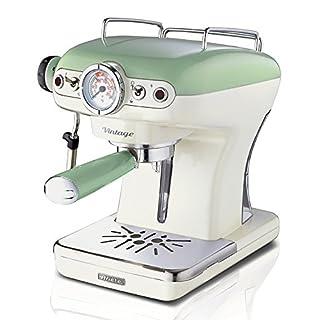 Ariete 00M138914AR0 Siebträger-Espressomaschine Vintage mit Milchaufschäumdüse, 900 W, lindgrün