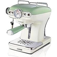 Ariete 1389 Cafetera Espresso Vintage, 900 W, 2 Cups, Verde