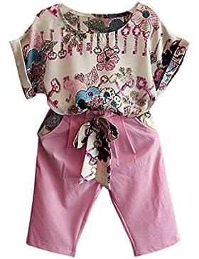 [Patrocinado]Ropa para chicas, RETUROM La camiseta impresa flor de la niña del cabrito lindo + Pantalones fijó la ropa