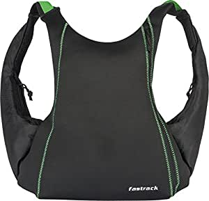 Fastrack Tripsters 6.9 (ltrs) Black Casual Backpack (A0603NBK02)