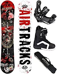 AIRTRACKS SNOWBOARD SET - TABLA AIR ANARCHY 152 - FIJACIONES SAVAGE - BOTAS STRONG 42 - SB BOLSA/ NUEVO
