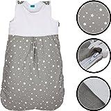 Sommerschlafsack/Schlafsack (100% BAUMWOLLE) Kind Baby (90, STERNE)