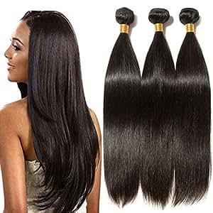 Extension Tessitura Capelli Veri Matassa Umani 60cm Fascia Unica Brasiliani Naturali Lisci -Grado 7A- 100% Remy Virgin Human Hair Extensions Weft #1B Nero Naturale