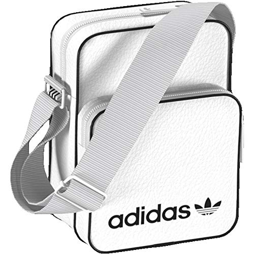 adidas Unisex-Erwachsene Mini Bag Vint Umhängetasche, Weiß (Blanco), 24x15x45 Centimeters