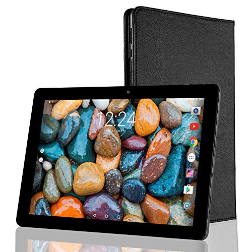 Tablet 10.1 Pulgadas Android 2GB RAM - Winnovo VTab 16GB de Memoria Quad-Core Tablet PC WiFi Pantalla 1280 x 800 HD 2MP + 5MP Cámara Doble con Carcasa portátil Protectora 6600mAh Bateria(Negro)