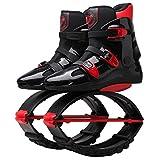Wgwioo Unisex Fitness Jump Schuhe Platz Anti-Gravity Fitness Bounce Laufen Im Freien Übung Sport Stiefel,Red,42~44