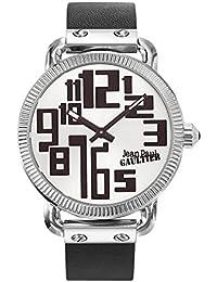 Reloj hombre–Jean Paul Gaultier–Index–acero–Pulsera cuero negro–45mm–8504405