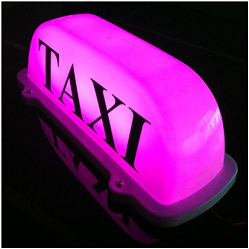 taxi - top - licht / neue led - dach taxi - schild 12v mit magnetischer basis, lila optiona automotive wasserdicht kuppel licht - 12v-schild