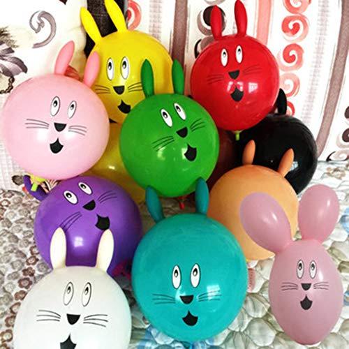 inchen Ballon, Nette Kaninchen Aufblasbare Ball Hochzeit Dekoration Latex Luftballons Kinder Spielzeug ()