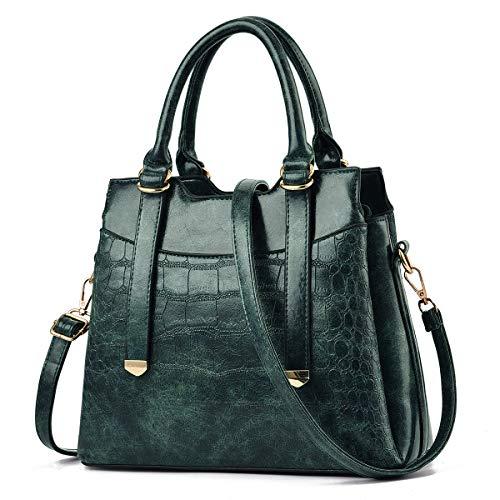 Damenhandtaschen und Handtasche PU-Leder Damen Designer-Umhängetasche Tragegriff Umhängetaschen Mehrere Taschen Mittelgroße Hobo-Handtasche Umhängetasche mit langem Tragegurt Tagesrucksack Grün DORADO
