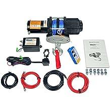 Cabrestante Electrico 12v 2045Kg Cabestrante Cuerda Sintetica Winch con Mando Inalámbrico