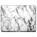 #7: GADGETS WRAP White Marble Laptop Decal for 15.6 inch laptop 15x10